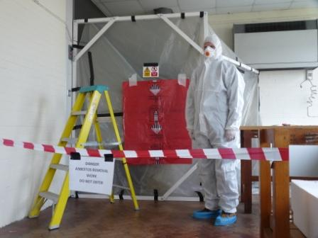 Asbestos removal by Hampton Electrical Systems Ltd, Stroud, Gloucestershire