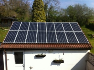 3kw Solar PV system designed and installed by Hampton Electrical Systems Ltd of Stroud in Gloucestershire