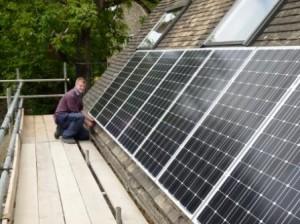3.8kW Solar PV installation in Sapperton