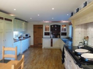 Kitchen lighting by Hampton Electrical Systems Ltd of Stroud in Gloucestershire