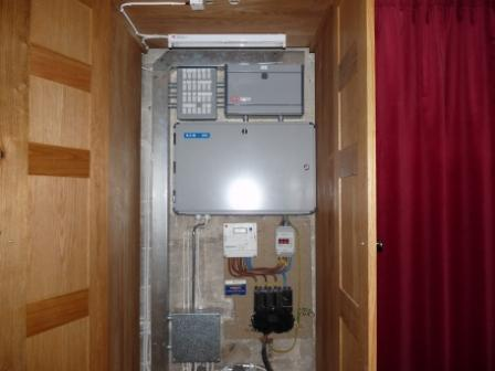 3 phase distribution board AFTER work by Hampton Electrical Systems Ltd, Stroud, Gloucestershire